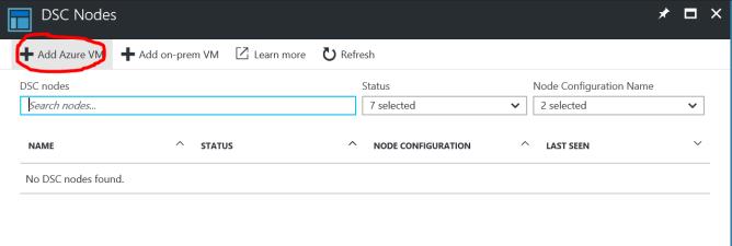 Register Azure VM with DSC