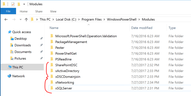 PowerShell DSC Modules