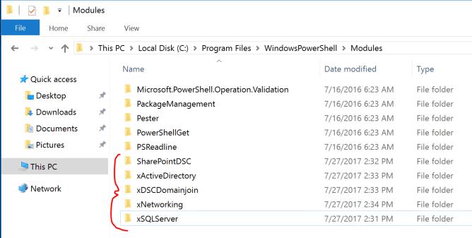 PowerShell DSC Modules