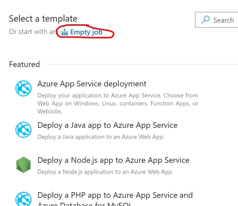 Empty job Azure DevOPs Release Pipeline