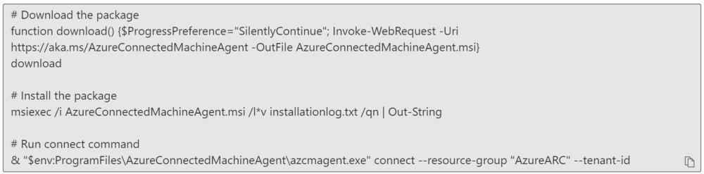 Script to On-board Azure Arc Servers