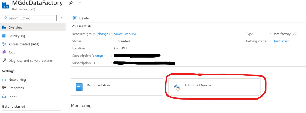 Author and Monitor Azure Data Factory