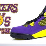 Custom Laker Jordan 4's – Customs by Vick