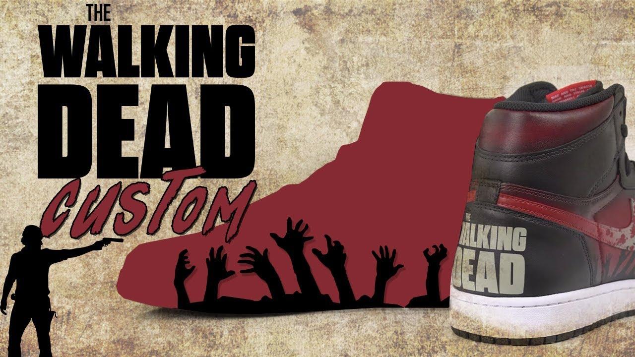 Walking Dead Custom Air Jordan 1 by Vick Almighty - Walking Dead Custom  Air Jordan 1 by Vick Almighty
