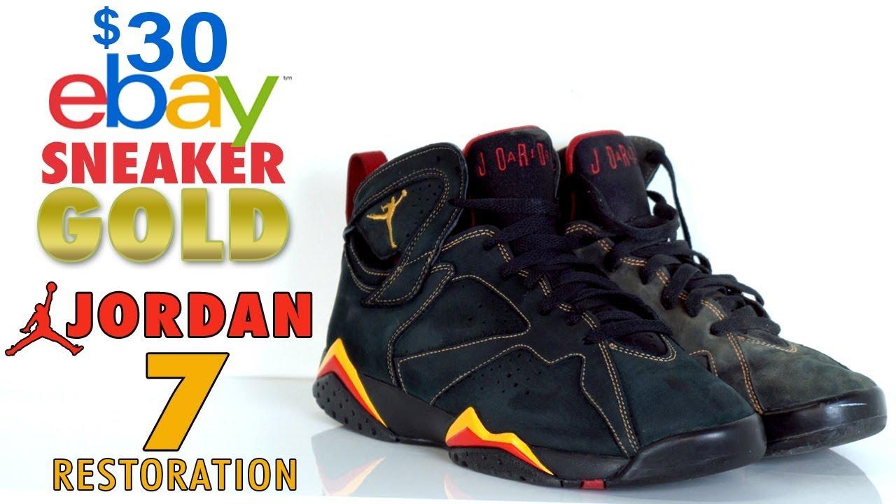 30 eBay Sneaker Gold Air Jordan 7 Citrus Restoration - $30 eBay Sneaker Gold - Air Jordan 7 Citrus Restoration