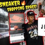 $750+ SNEAKER SHOPPING SPREE! INSIDE THE VIP JORDAN POP UP! NEW LIMITED SNEAKER PICKUPS & MORE!