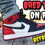 """DON'T SLEEP! """"BRED TOE"""" AIR JORDAN 1 ON FEET REVIEW! Watch BEFORE You Buy!"""