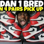 I Bought 4 Pairs of Jordan 1 Bred Toe! Crazy Pick Up Mall Vlog!!