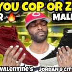 Mall Vlog: Cop Or Zzzz? Jordan 8 Valentine's Day Or Jordan 9 City of Flight