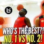 """ 1 ON 1″ to PROVE WHO'S BEST?!  Zion Williamson vs RJ Barrett HIGHLIGHT MCDAAG Day 2 Practice!"