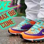 "NIKE AIR MAX 98 ""CONE"" ""VIBRANT AIR"" REVIEW AND ON FOOT !!!"