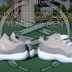 Air Jordan 11 Low 'Cool Grey' | KIDS vs MEN's