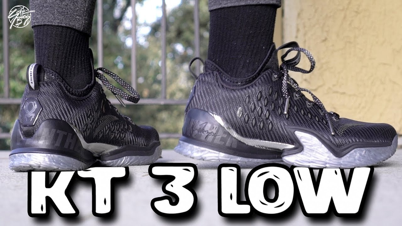 "Anta KT 3 Klay Thompson LOW Black Panther First Impressions - Anta KT 3 (Klay Thompson) LOW ""Black Panther"" First Impressions!"