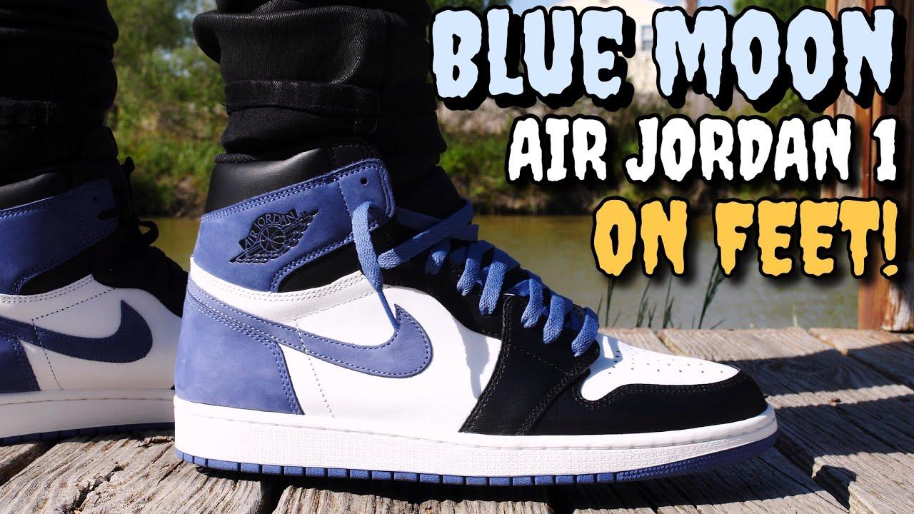 "BLUE MOON AIR JORDAN 1 ON FEET REVIEW HEAT OR HYPE - ""BLUE MOON"" AIR JORDAN 1 ON FEET REVIEW! HEAT OR HYPE?"