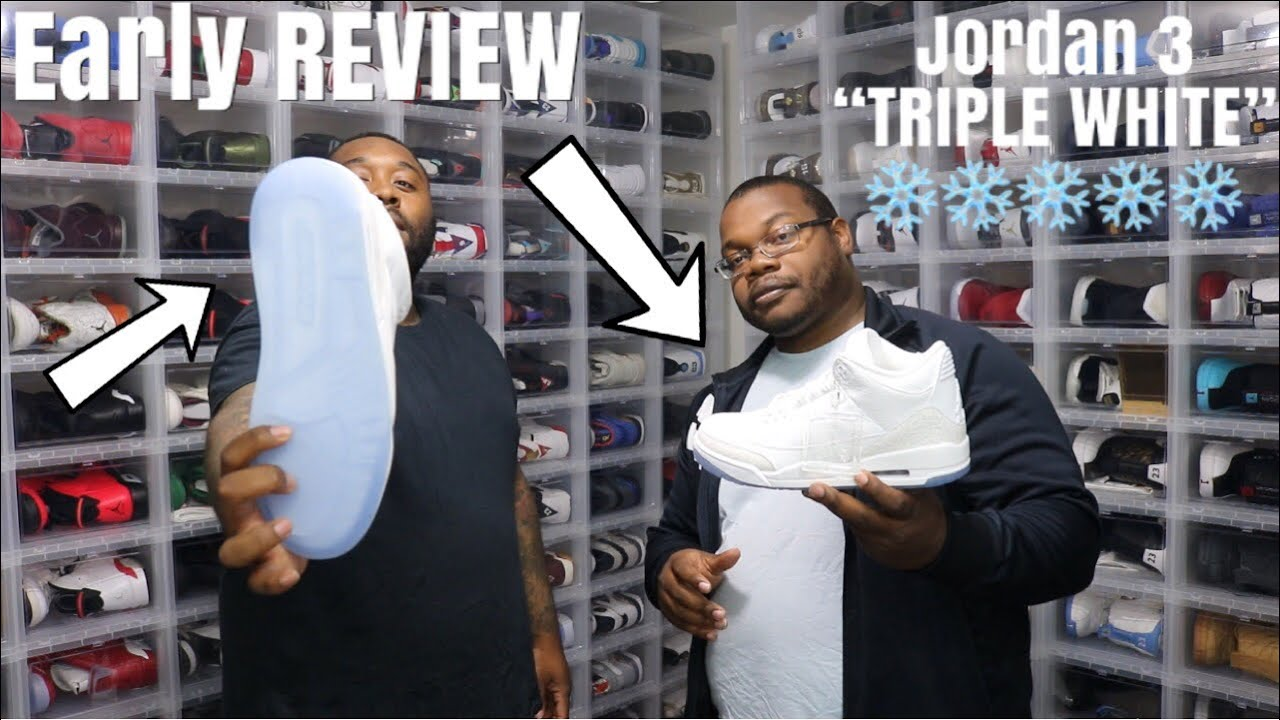 "EARLY UNBOXING JORDAN 3 TRIPLE WHITE DETAILED REVIEW FT FINELINE1721 NO HYPEBEAST COP OR DROP - EARLY UNBOXING: JORDAN 3 ""TRIPLE WHITE"" DETAILED REVIEW FT  FINELINE1721! NO HYPEBEAST! COP OR DROP"
