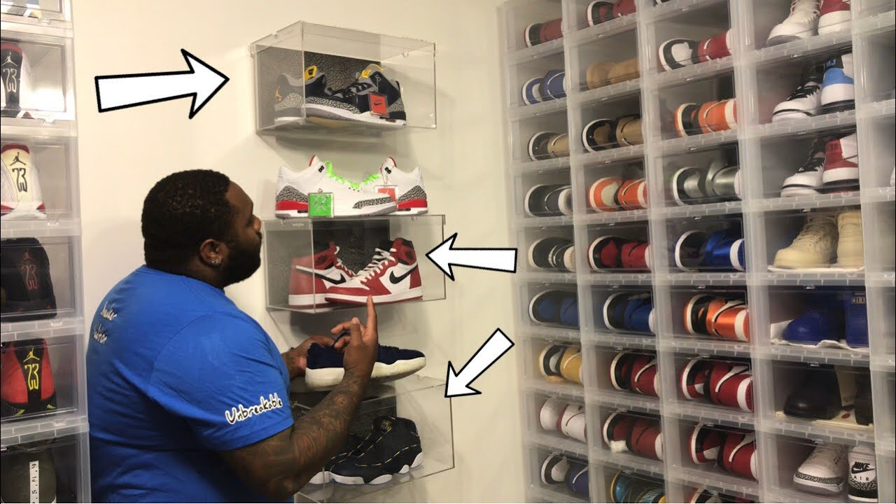 HOW TO PUT YOUR SNEAKER BOXES ON YOUR WALL PROFESSIONALLY FT SNEAKER GLASS - HOW TO: PUT YOUR SNEAKER BOXES ON YOUR WALL PROFESSIONALLY FT  SNEAKER GLASS