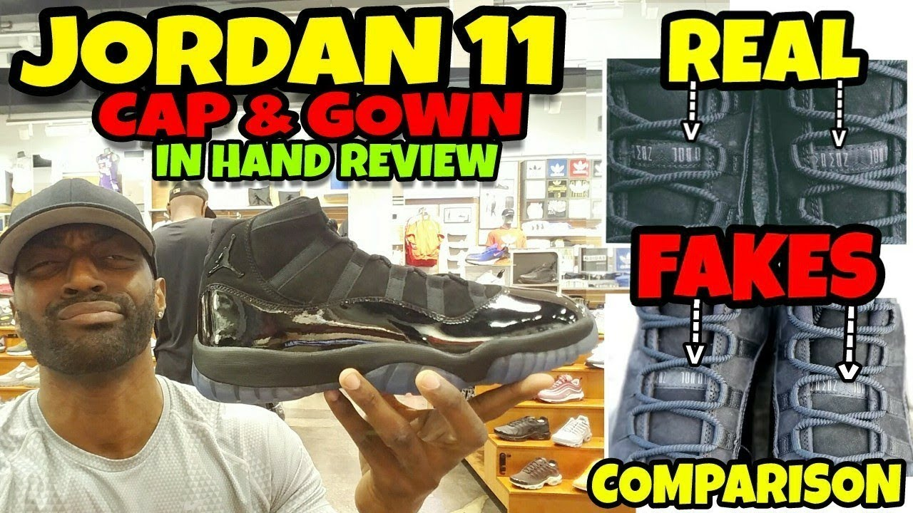 Real vs Fake Poopy Di Scoop Jordan 11 Cap Gown Detailed Review - Real vs Fake (Poopy Di Scoop) Jordan 11 Cap & Gown Detailed Review
