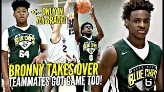 LeBron James Jr Takes OVER In The Clutch Blue Chips WHOLE Squad Is Nice Midwest Mania Highlights - LeBron James Jr Takes OVER In The Clutch! Blue Chips WHOLE Squad Is Nice! Midwest Mania Highlights!