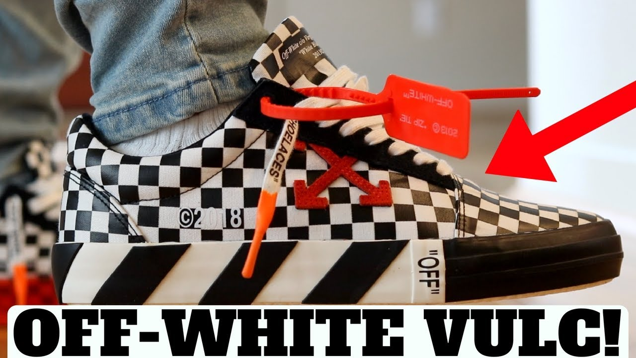 OFF WHITE BLACK WHITE CHECK VULC LOW REVIEW Compared to Vans Old Skool - OFF-WHITE BLACK & WHITE CHECK VULC LOW REVIEW! (Compared to Vans Old Skool)