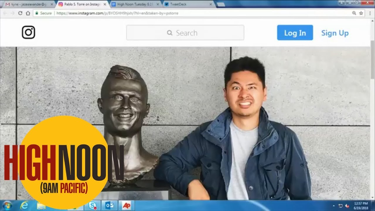 The viral Cristiano Ronaldo bust has been replaced High Noon ESPN - The viral Cristiano Ronaldo bust has been replaced | High Noon | ESPN