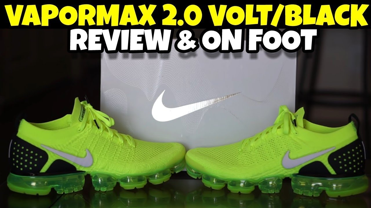NIKE AIR VAPORMAX FLYKNIT 2 VOLT REVIEW ON FOOT - NIKE AIR VAPORMAX FLYKNIT 2 VOLT REVIEW & ON FOOT