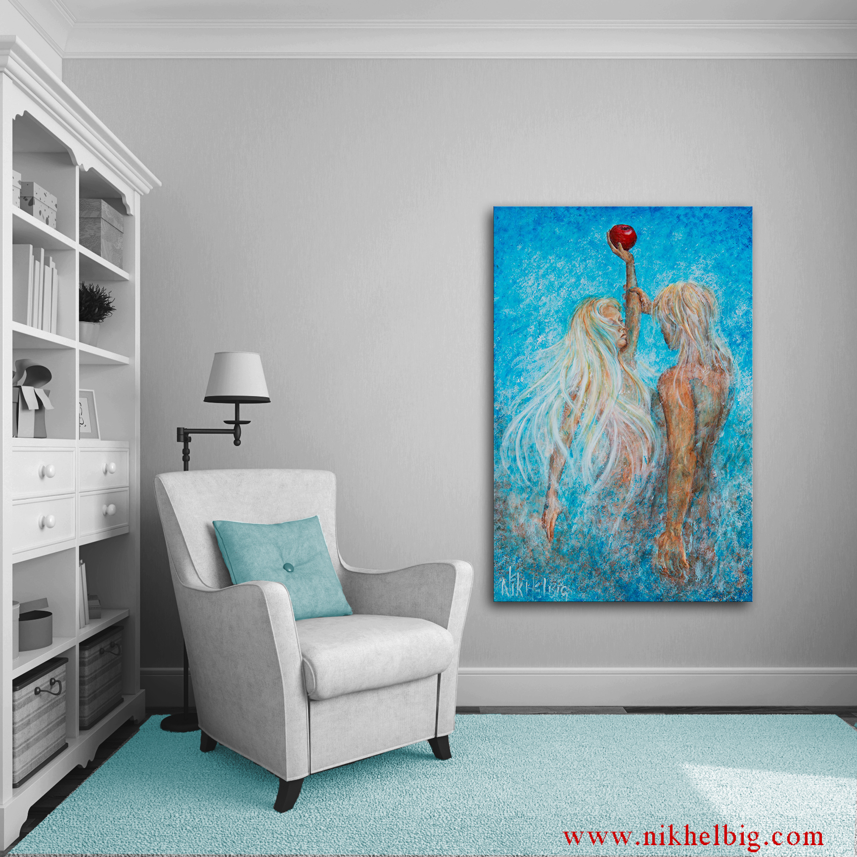paintings of adam and eve
