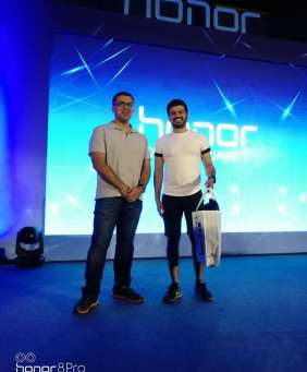Nikhil Chawla Honor 8 Pro Contest Winner