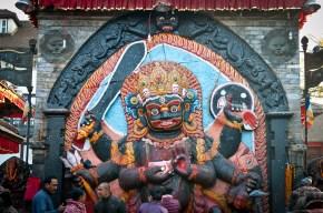 Image of Kalabhairava in Durbar Square, in Kathmandu, Nepal