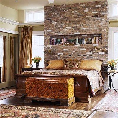 Gambar Batu Bata Desain Interior Modern dan Klasik - Tembok Batu Bata - Interior Desain Kamar Rumah 08