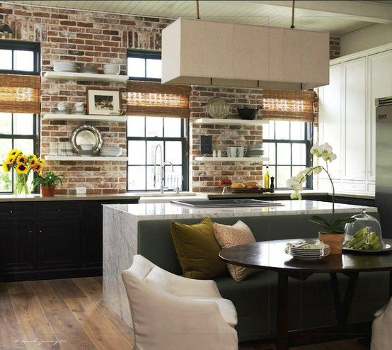 Gambar Batu Bata Desain Interior Modern dan Klasik - Tembok Batu Bata - Interior Desain Kamar Rumah 22
