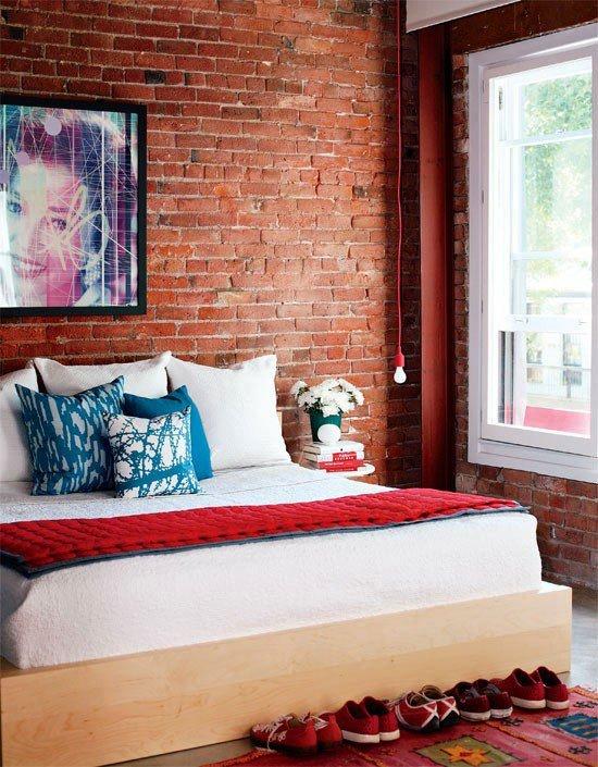 Gambar Batu Bata Desain Interior Modern dan Klasik - Tembok Batu Bata - Interior Desain Kamar Rumah 24
