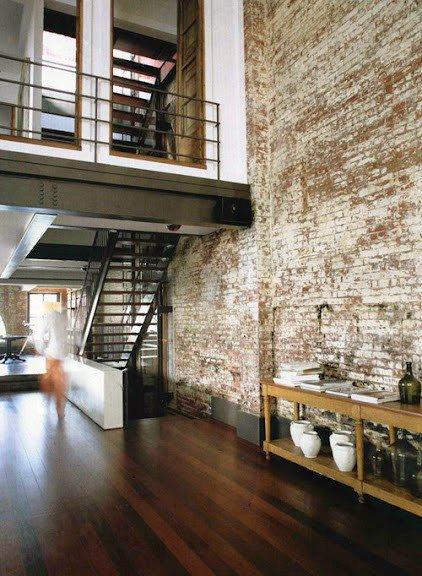 Gambar Batu Bata Desain Interior Modern dan Klasik - Tembok Batu Bata - Interior Desain Kamar Rumah 28