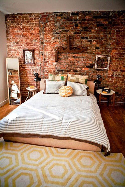 Gambar Batu Bata Desain Interior Modern dan Klasik - Tembok Batu Bata - Interior Desain Kamar Rumah 37