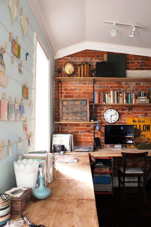 Gambar Batu Bata Desain Interior Modern dan Klasik - Tembok Batu Bata - Interior Desain Kamar Rumah 39