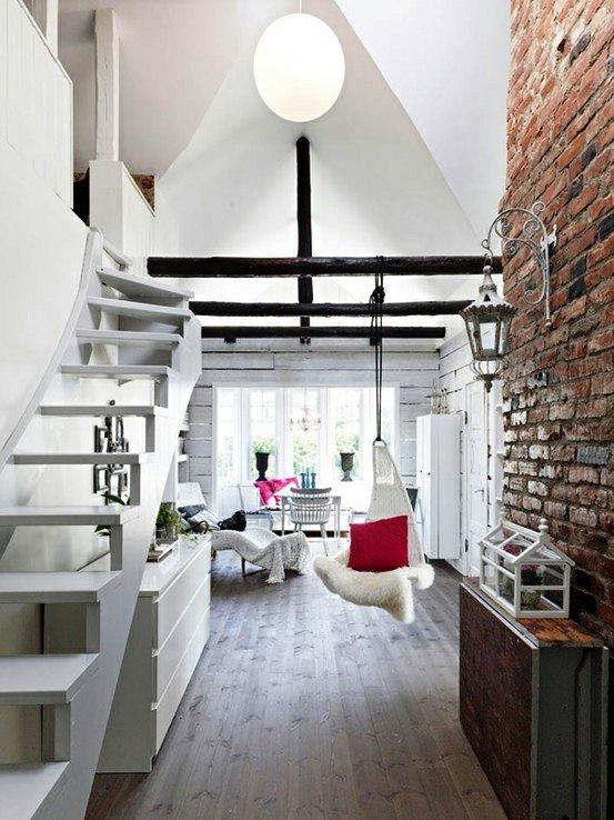 Gambar Batu Bata Desain Interior Modern dan Klasik - Tembok Batu Bata - Interior Desain Kamar Rumah 40