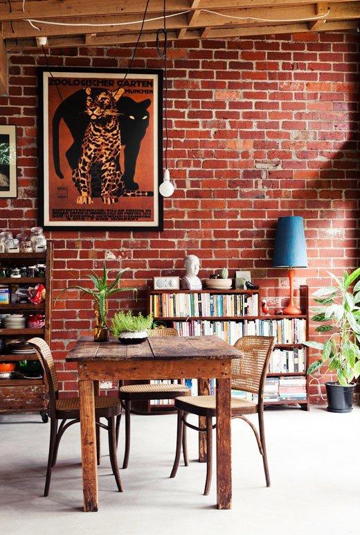 Gambar Batu Bata Desain Interior Modern dan Klasik - Tembok Batu Bata - Interior Desain Kamar Rumah 42