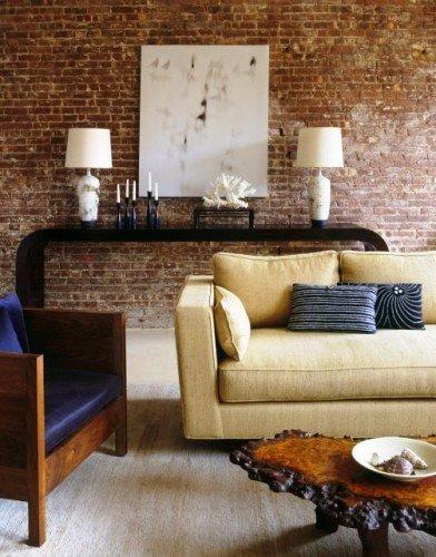 Gambar Batu Bata Desain Interior Modern dan Klasik - Tembok Batu Bata - Interior Desain Kamar Rumah 53