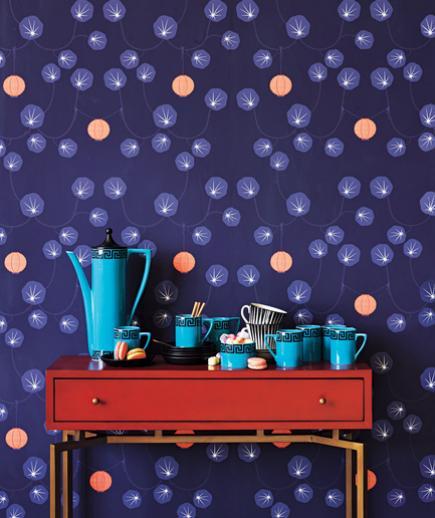 24 Contoh Desain Wallpaper Dinding yang Cantik - Whimsical - Best Home Wallpaper Design