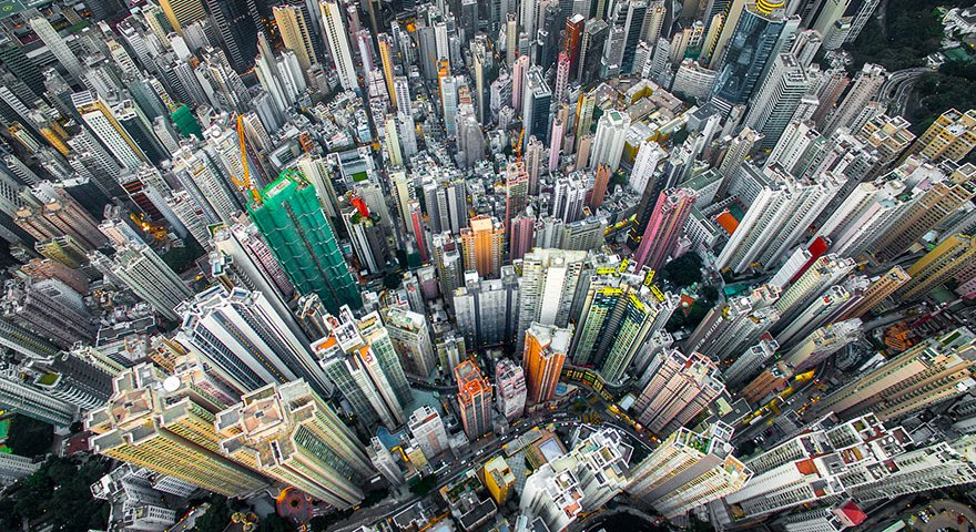 Hong Kong's Dense Skyscrapers