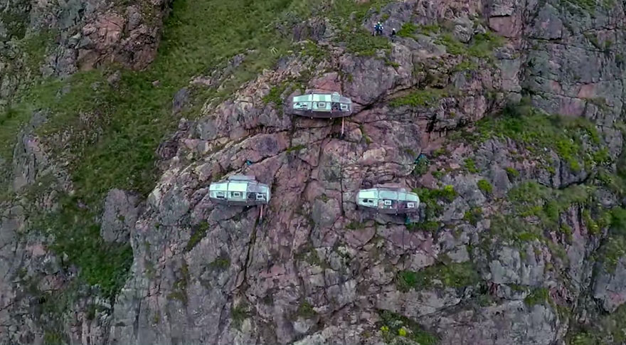400-feet Sleeping Capsules over Peru's Sacred Valley
