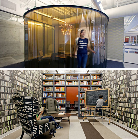 Office Designs with No Cubicle Design