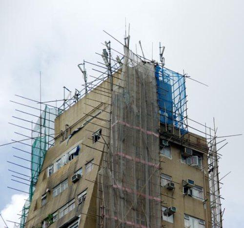 Scaffolding Bambu di Hongkong