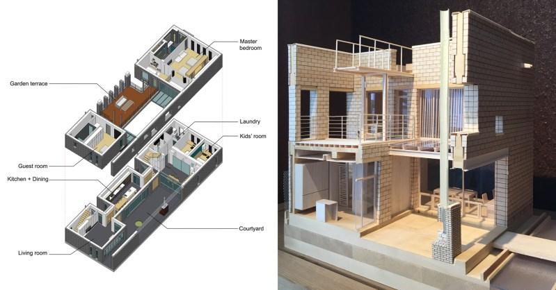 Gedung dengan Blok Beton