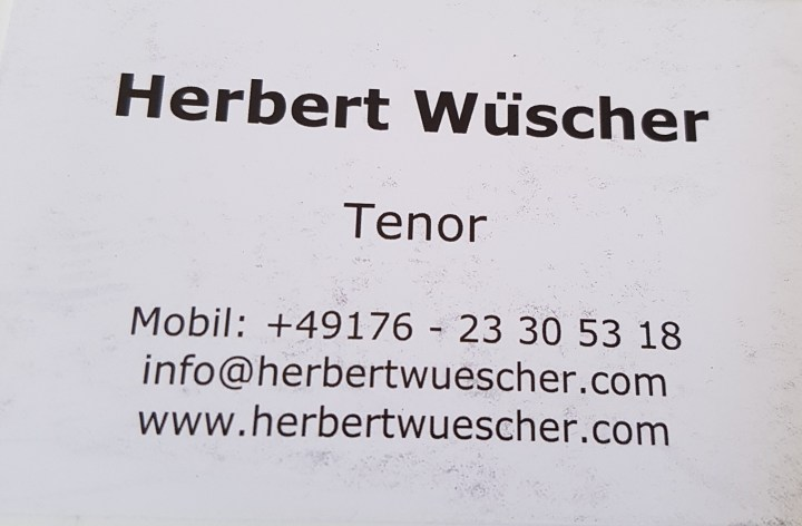 Tenor - Herbert Wüscher