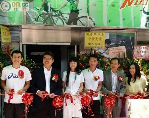 So sweet in becoming a business-owner when Kyle opened his bike storage branded with his girlfriend's name