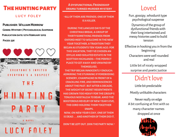 The Hunting Party - Lucy Foley Quick Review