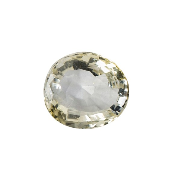 Yellow Sapphire (Pukhraj) - 6.05 carat from  Ceylon