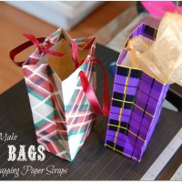 How To Make A Gift Bag From Wrapping Paper Scraps