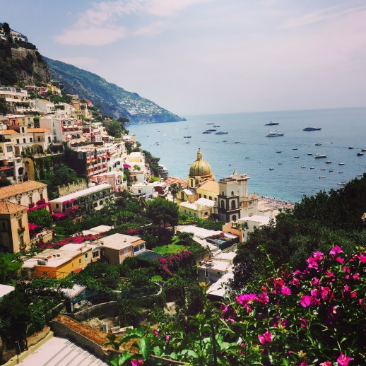 Bird eye view of Positano