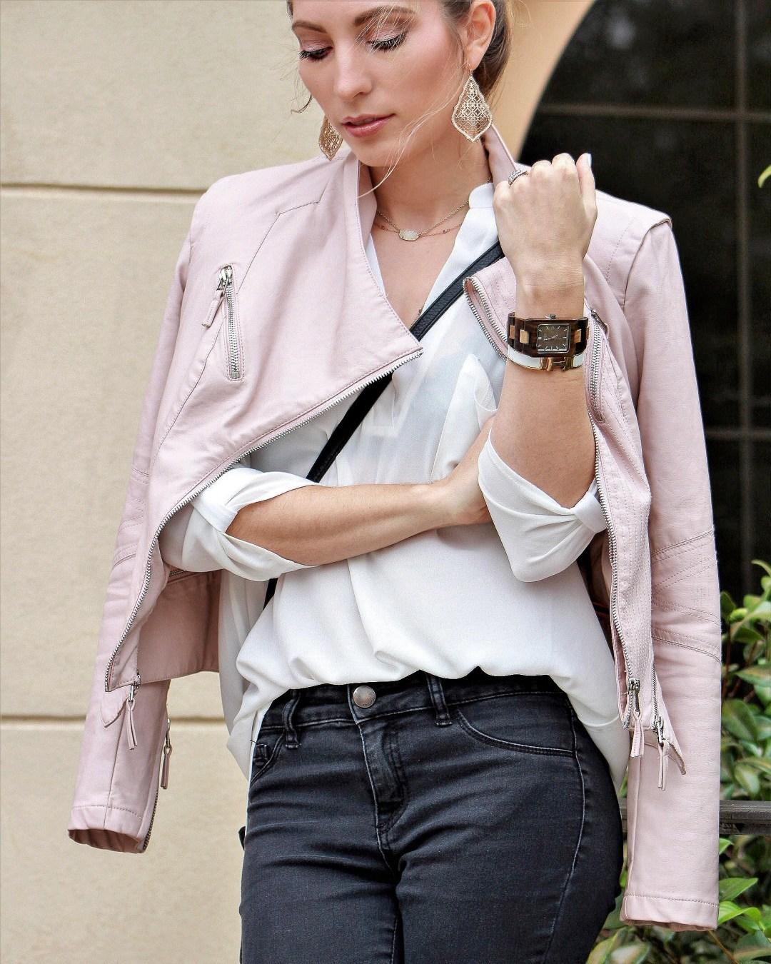 Jord Watch Reece Khaki Blush Leather